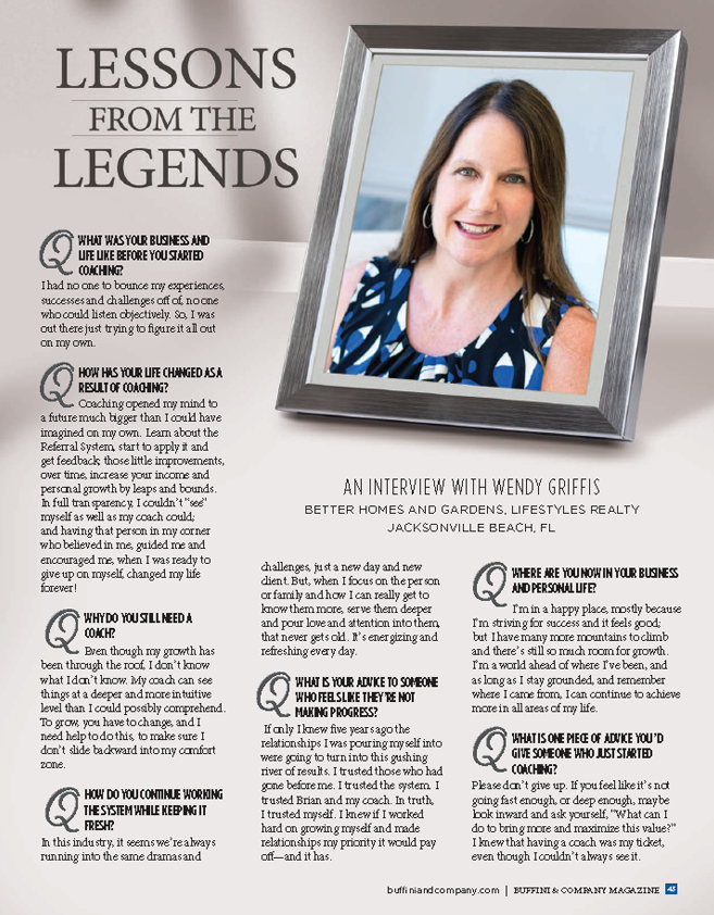 Wendy Griffis Lessons from the Legends of Real Estate